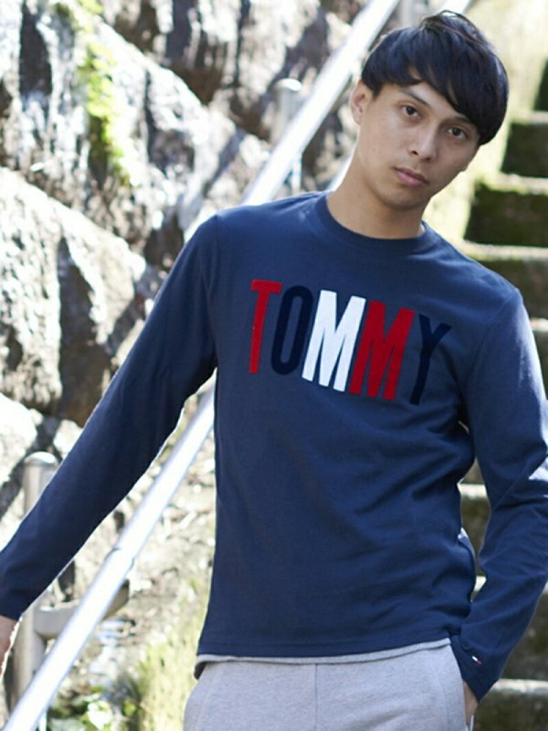 TOMMY JEANS (M)TOMMYロゴロングTシャツ トミーヒルフィガー【送料無料】