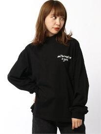 X-girl ALTERNATIVE LOGO HIGH NECK L/S TEE エックスガール カットソー Tシャツ ブラック グレー イエロー【送料無料】