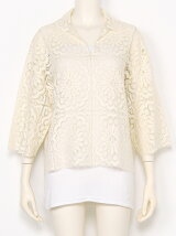 doily laceshirt pullover