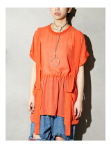 Tape Chiffon Big Shirt