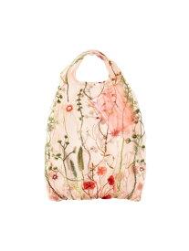 Francfranc チュールバッグ フラワー×ライトピンク フランフラン バッグ エコバッグ/サブバッグ