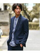 【EZジャケット】ソフトテーラード1ボタンジャケット
