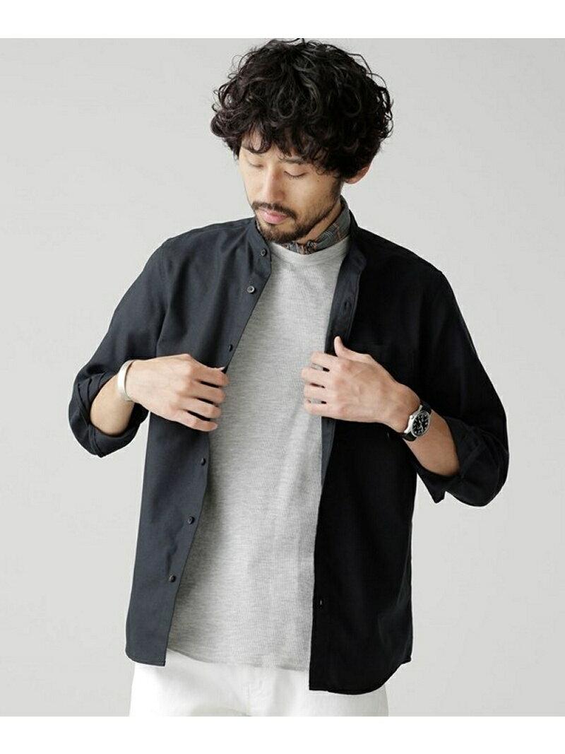 【SALE/40%OFF】オックスバンドカラーシャツ ナノユニバース シャツ/ブラウス【RBA_S】【RBA_E】