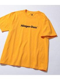 【SALE/40%OFF】ADAM ET ROPE' Haagen-Dazs meets ADAM ET ROPE'<T-shirt> アダムエロペ カットソー カットソーその他 イエロー ブラック ホワイト ブラウン グリーン レッド【送料無料】