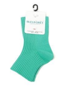 SHIPS WOMEN BLEU FORET:カラーリブソックス シップス ファッショングッズ ソックス/靴下 グリーン