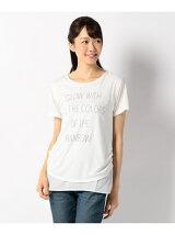 重ね着風ロゴ Tシャツ