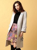 パーツファー刺繍コート