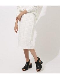 【SALE/50%OFF】AZUL by moussy 《期間限定価格》フクレジャガードタイトミディスカート アズールバイマウジー スカート スカートその他 ブラック ホワイト