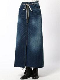 cepo CEPO/(W)デニムREラップスカート セポ スカート ロングスカート ネイビー ブルー【送料無料】