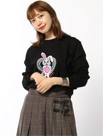 X-girl BUZZED BUNNY L/S REGULAR TEE エックスガール カットソー Tシャツ ブラック カーキ イエロー【送料無料】