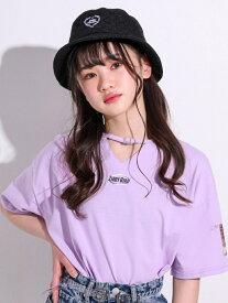 【SALE/10%OFF】ZIDDY チョーカー風 ベルト Tシャツ(130~160cm) ベベ オンライン ストア カットソー Tシャツ パープル ホワイト イエロー