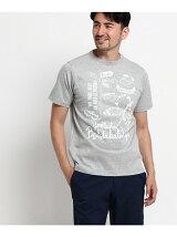 吸水速乾ゴルフ柄Tシャツ