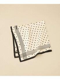 【SALE/40%OFF】Le Vernis フレンチドットスカーフ ナノユニバース ファッショングッズ スカーフ/バンダナ ブラック ブラウン