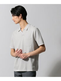【SALE/29%OFF】gotairiku ジオメトリックパターンスキッパ ポロシャツ ゴタイリク カットソー ポロシャツ ホワイト ブラック ベージュ ネイビー【送料無料】