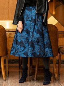 Viaggio Blu フラワージャガードスカート ビアッジョブルー スカート スカートその他 ブルー ピンク【送料無料】
