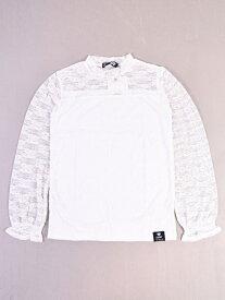 【SALE/60%OFF】ZIDDY 【ニコプチ掲載】ストレッチレースショートネックTシャツ ベベ オンライン ストア カットソー Tシャツ ホワイト レッド ブラック