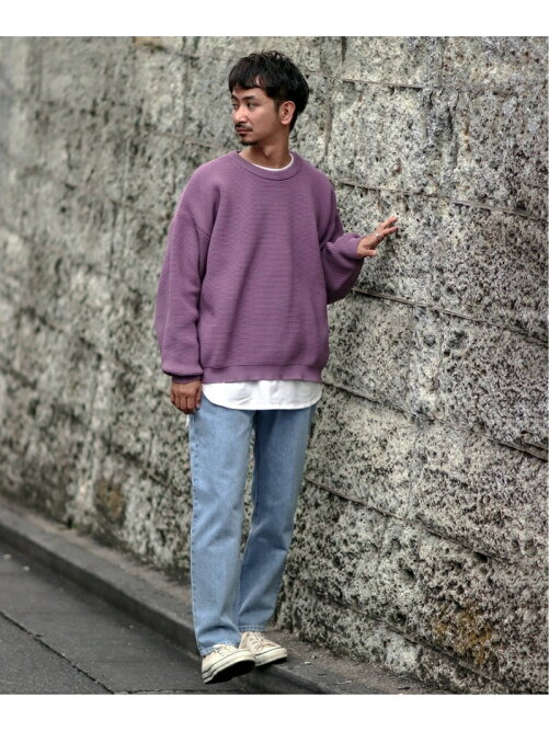 RECYCLE PE KNIT/LONG T SET