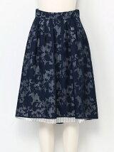 フラワーストライプスカート