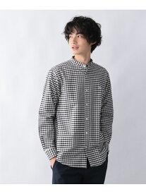 GLOBAL WORK (M)OXフォードバンドシャツ グローバルワーク シャツ/ブラウス 長袖シャツ ブラック グレー ネイビー ベージュ ブルー ホワイト