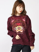 (W)Claw Tiger Textured Jumper W