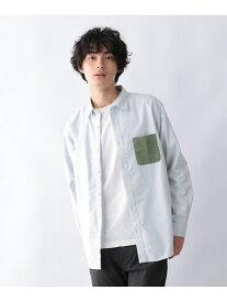GLOBAL WORK (M)OXフォードポケカエシャツ グローバルワーク シャツ/ブラウス 長袖シャツ グリーン ネイビー パープル ホワイト