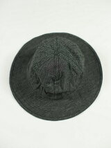JAGGED LINE BLACK CHAMBRAY ARMY HAT