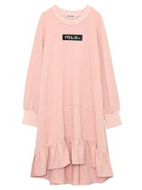 RUFFLE SWEAT DRESS