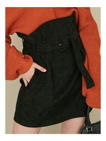 EMODA マークコルセットスカート エモダ スカート ミニスカート ブラック ブルー ブラウン【送料無料】