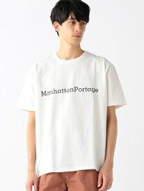 B:MING by BEAMS Manhattan Portage / USA プリントTシャツ BEAMS ビームス マンハッタンポーテージ ビーミング ライフストア バイ ビームス カットソー Tシャツ ホワイト ブラック ブルー【送料無料】
