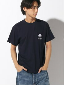 BEAMS JAPAN BEAMS JAPAN / ビームス ジャパン ロゴ刺しゅう Tシャツ カラー ビームス ジャパン カットソー Tシャツ ネイビー レッド パープル ブラック【送料無料】