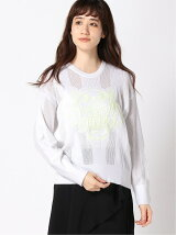 (W)HS19 Textured Sweater Tiger Neon