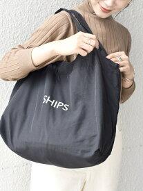 SHIPS WOMEN 《一部予約》【WEB限定】大容量エコバッグ◆ シップス バッグ エコバッグ/サブバッグ ブラック ベージュ カーキ レッド イエロー ブルー ネイビー