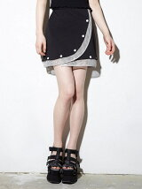 MESH DETAIL MINI SKIRT