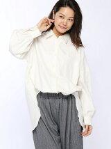 (W)フランネルBIGシャツ/LS
