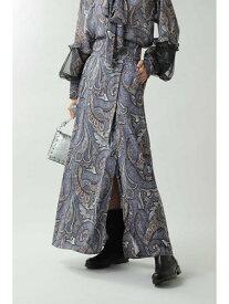 ROSE BUD ペイズリープリントマキシスカート ローズバッド スカート スカートその他 ブルー ベージュ【送料無料】