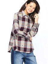 (W)フランネルワイヤーシャツ/LS