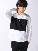 【BROWNY】(M)カラーパネルオックスシャツ