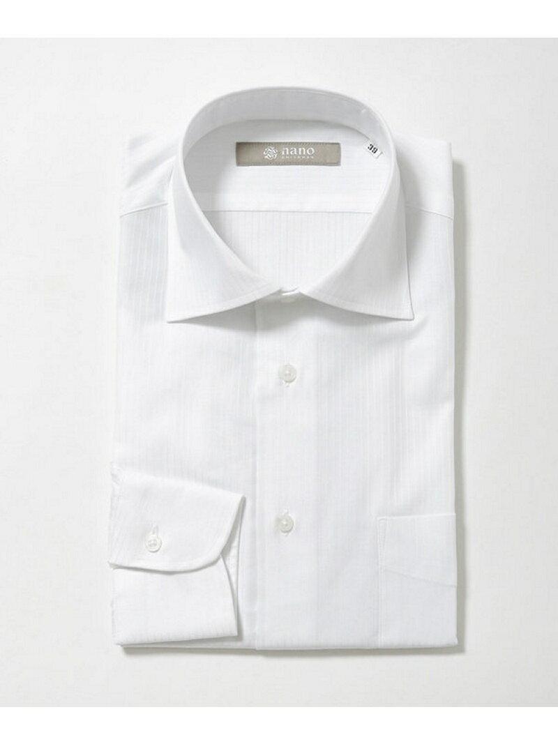 【SALE/60%OFF】nano・universe ヘリンボーンワイドカラーシャツ ナノユニバース シャツ/ブラウス【RBA_S】【RBA_E】【送料無料】