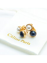 Caline Paris bouton perlイヤリング