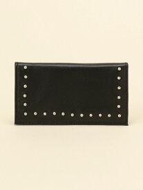 L LEATHER 《L LEATHER》カードブック ロゼリープ 財布/小物 パスケース/カードケース ブラック ホワイト