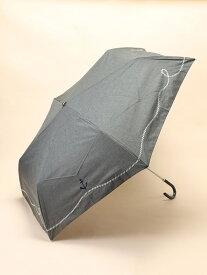 【SALE/50%OFF】studio CLIP MRエンブロイダリーヒガサ スタディオクリップ ファッショングッズ 日傘/折りたたみ傘 グレー ブルー