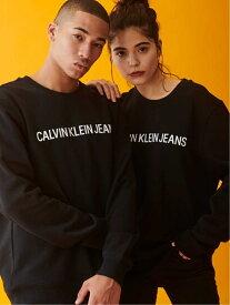 Calvin Klein Jeans CALVIN KLEIN 【カルバン クライン ジーンズ】 メンズ レディース ロゴ スウェット トレーナー カジュアル INSTIT LG PLVR J313751 カルバン・クライン カットソー スウェット ブラック グレー ホワイト【送料無料】