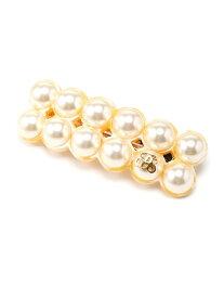 petit bonbon paris (W)chloe pearl barrette プティボンボンパリス 帽子/ヘア小物 バレッタ/ヘアクリップ イエロー【送料無料】