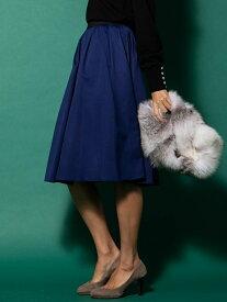 Viaggio Blu 【大きいサイズ】グログランフレアスカート ビアッジョブルー スカート スカートその他 ブルー ピンク グリーン【送料無料】