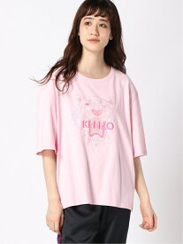 KENZO (W)Tonal Tiger Skate Tee W ケンゾー カットソー Tシャツ ピンク レッド【送料無料】