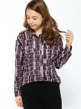 チュールチェックプリントシャツ