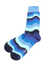 (W)【Happy Sock】WAVE STRIPE