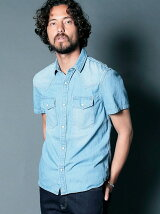 6.5OZ SHAVING DENIM SHIRTS S/S