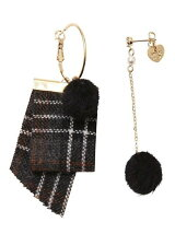 RIBBON & POMPOM EARRINGS