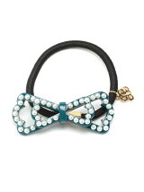 (W)chloe ribbon pearl hair elastic